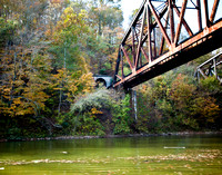 The railroad bridge over the Kentucky River at Ford Kentucky